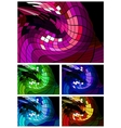 Abstract disco background different colors vector image