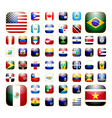 American continent app icon vector image