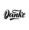 thank you in german calligraphy danke vector image