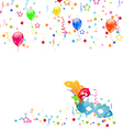 Carnival background with mask confetti balloons vector image vector image