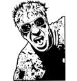 splatter run vector image