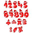 christmas numbers vector image vector image