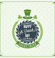 St Patricks Day Vintage Holiday Badge Design vector image
