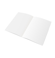 Sheet of paper folded in half vector image