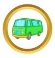 Classic van retro style icon vector image