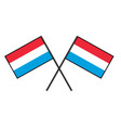 flag of luxembourg stylization of national banner vector image