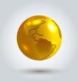 golden Earth vector image