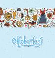 Oktoberfest elements set vector image
