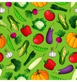 Seamless pattern of freshly harvested vegetables vector image