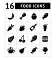 Set icons food fruit and drink vector image