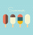 summer ice cream vector image