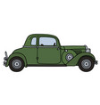 vintage green coupe vector image