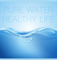 water wave transparent surface with bubbles pure vector image