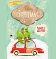 xmas poster winter holidays vector image