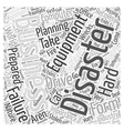 Importance Of Recovery Planning LONG Word Cloud vector image
