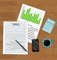 tax analysis and statistics vector image