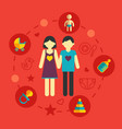 set of family planning and vacation infographic vector image