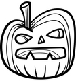 halloween pumpkin for coloring book vector image