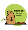 Funny beaver vector image