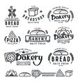 Set of bakery labels badges and design elements vector image