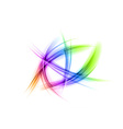 abstract shapes on white rainbow vector image