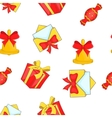 Christmas presents pattern cartoon style vector image