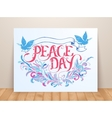 Greeting card for the holiday Peace day vector image