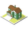 isometric image of a private house vector image