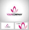 Lotus Logo Design Flower vector image