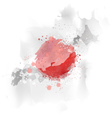 map Japan Watercolor paint vector image