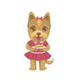 Puppy Holding A Piece Of Cake vector image