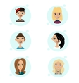 set of female avatar icons People vector image