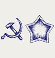 Soviet star icon vector image