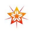 star shine decorative abstract logo vector image