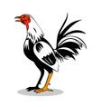 Rooster Cockerel Cock Retro vector image