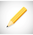 Yellow pencil isolated on white background vector image vector image