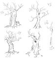 Hand drawn trees vector image