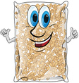 pellet bag isolated vector image vector image