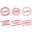 Today stamps vector image