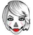 Girl makeup vector image