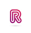 Letter R logo icon design template elements vector image
