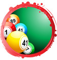circular border with bingo balls vector image