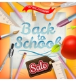 Back to School marketing background EPS 10 vector image