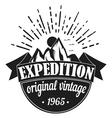 Adventure Tourism Travel Logo Vintage Labels vector image
