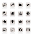 simple internet and web site icons vector image vector image