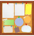 old paper notes vector image vector image