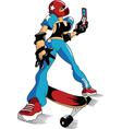 sexy skateboarder vector image