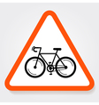 Bicycle Sign Plate vector image
