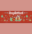 christmas and new year celebration vector image