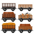 different types of wagons vector image